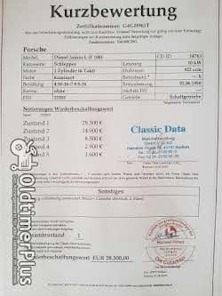 """Porsche JUNIOR """"108LH""""/IM SAMMLERZUSTAND/CLASSIC DATA WERT NOTE=1 Foto 6"""