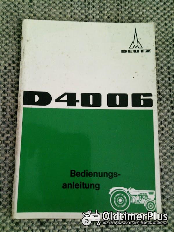 Deutz D 4006 Bedienungsanleitung Foto 1