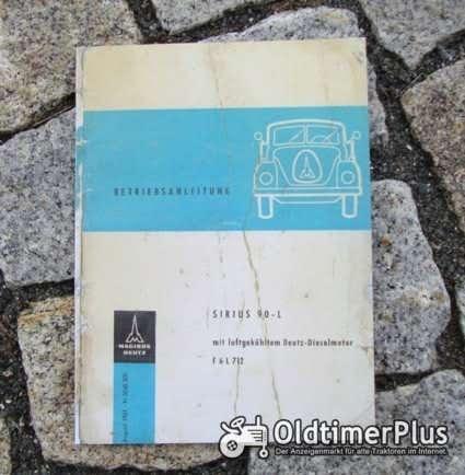 Betriebsanleitung Magirus Deutz Sirius 90 L 1961 Foto 1
