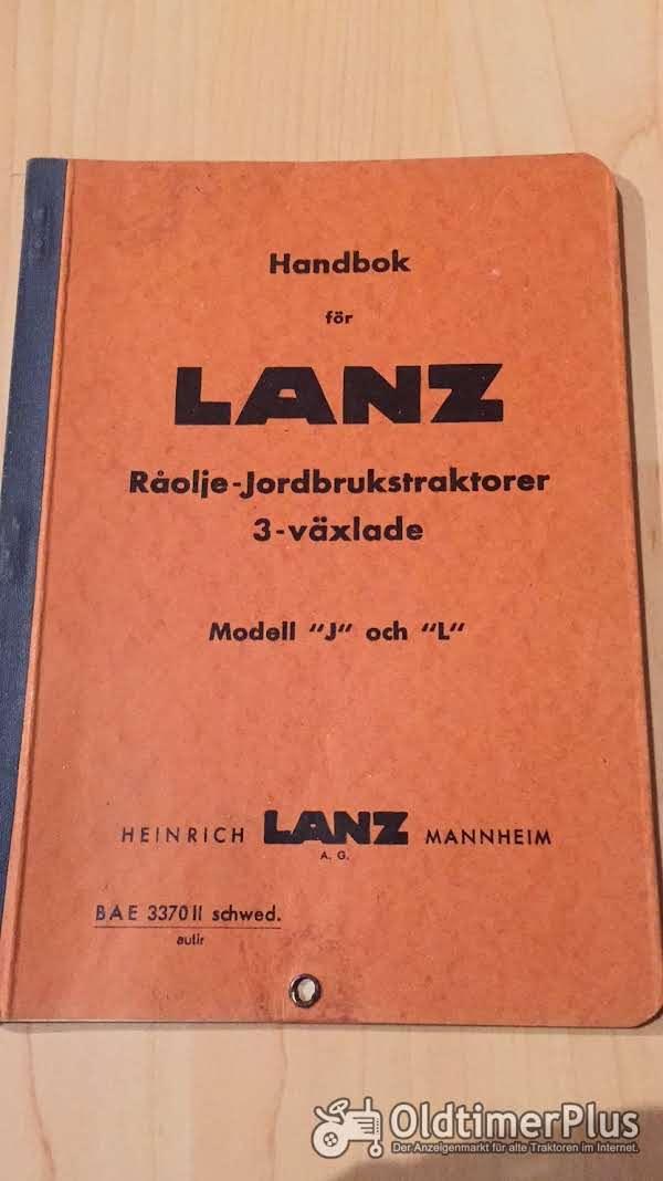 Lanz Bulldog Betriebsanleitung für 20 und 25 PS Bulldog Foto 1