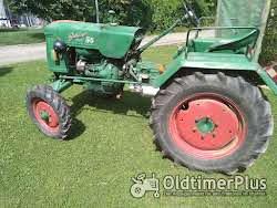 Güldner Oldtimer Traktor A Baureihe mit Mähwerk Foto 3