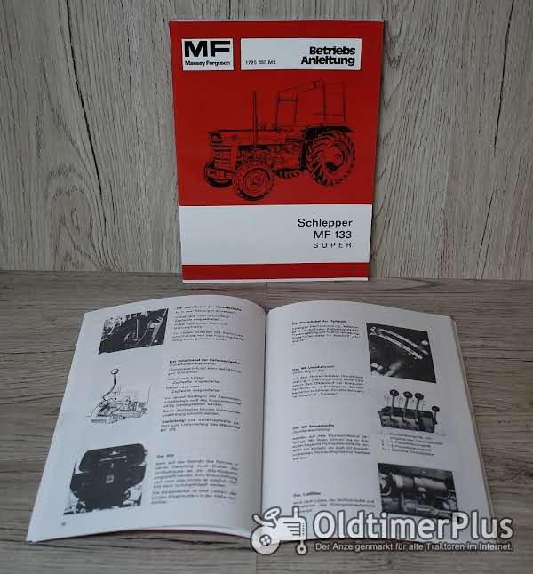 Massey Ferguson Bedienungsanleitung Traktor MF133 Super ab BJ 74 Foto 1