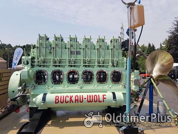 Buckau R. Wolf Magdeburg-Buckau Histor. Buckau Wolf Sammler Schiffsmotor top Schiffsdiesel SKL Foto 1