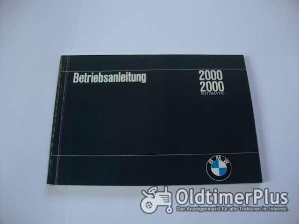 orig. Betriebsanleitung BMW 2000 1966 Foto 1