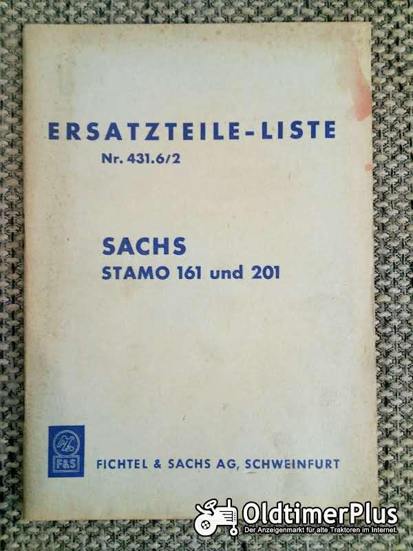 Sachs Stamo 161 und 201 Ersatzteilliste Nr. 431.6/2 Foto 1
