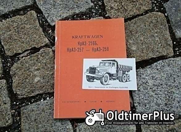 Betriebsanleitung Kraz 256 257 258 1969 KpA3 Foto 1