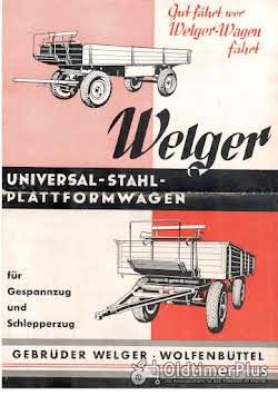 Welger SUCHE  Welger AZK 60F mit Kutschbock und Universal-Stahl-Plattformwagen der 30er Foto 3