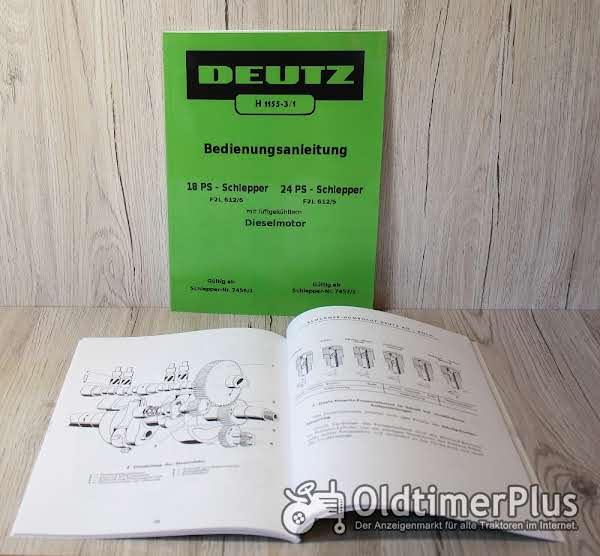 Deutz Bedienungsanleitung für 18PS Traktor F2L612/6 und 24PS F2L612/5 (H1155-3/1) Foto 1