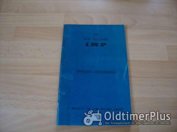 orig. Betriebsanleitung / owners handbook Hillman Imp 1963 Foto 1