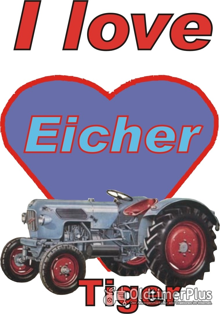 I love Eicher Tiger T-Shirt Foto 1