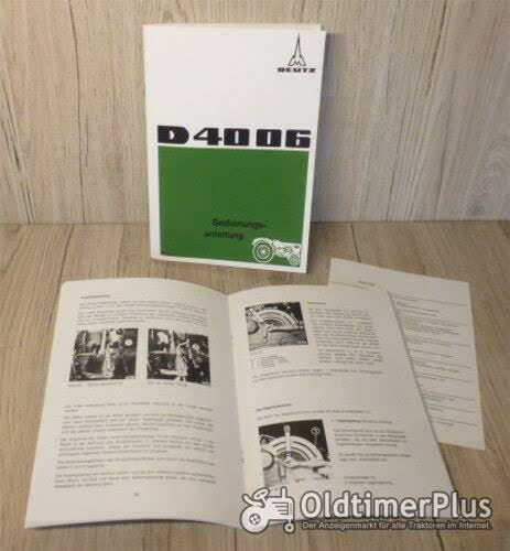 Deutz Bedienungsanleitung Traktor D4006 Foto 1