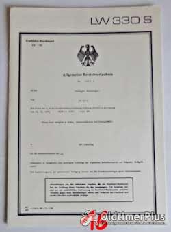 ABE, Allgemeine Betriebserlaubnis, KFZ-Brief Foto 10