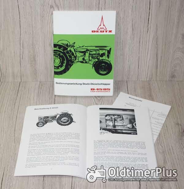 Deutz Bedienungsanleitung Traktor D4505 Foto 1