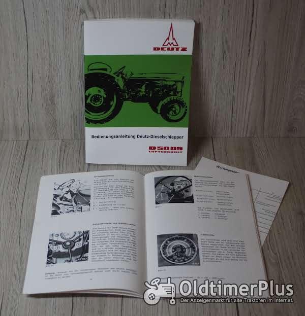 Deutz Bedienungsanleitung Traktor D5005 Foto 1