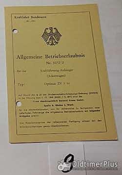 ABE, Allgemeine Betriebserlaubnis, KFZ-Brief Foto 8