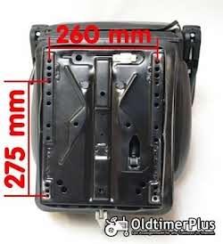 Universal Traktorsitz mit Feder - Öldämpfer System, belastbar bis 130 kg NEU Foto 2