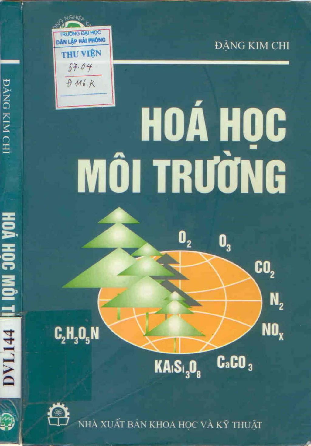 Hóa học môi trường - PGS. PTS. Đặng Kim Chi