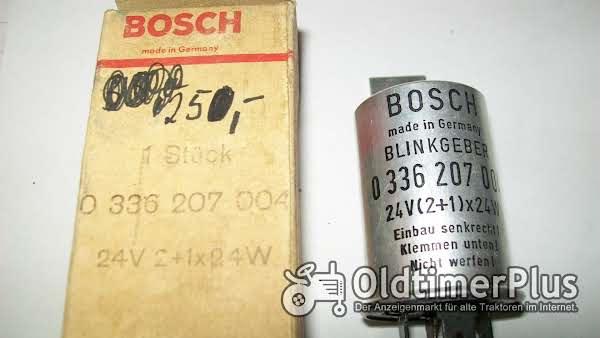 Bosch 0336207004 Blinkgeber-Blinkerrelais-24-Volt 2 + 1 mal24W neu Foto 1