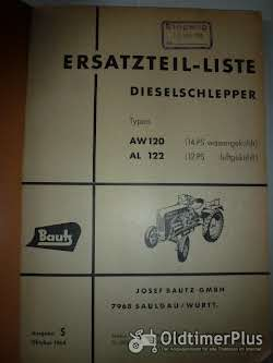 Ersatzteilliste Bautz Dieselschlepper AW 120, AL122 Foto 2