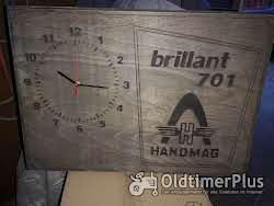 Fan-Artikel Hanomag brillant 701 Wanduhr Holz Eigenbau