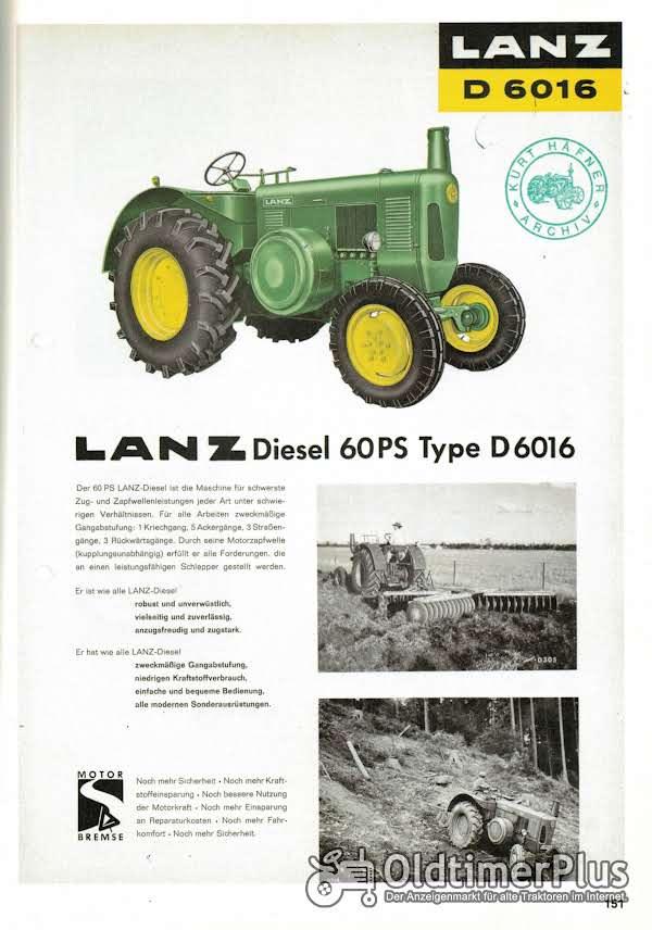 LANZ Suche John Deere Lanz D5016 und  D6016 - Bj. 1960-1962 Foto 1