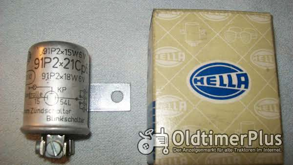 Hella 91 P2x21Cp 6V / 2x16W/2x18W BLINKGEBER NEU Foto 1
