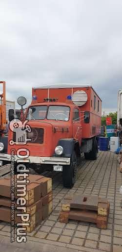 Magirius Deutz Lkw mit eine Generator Kasten Foto 2
