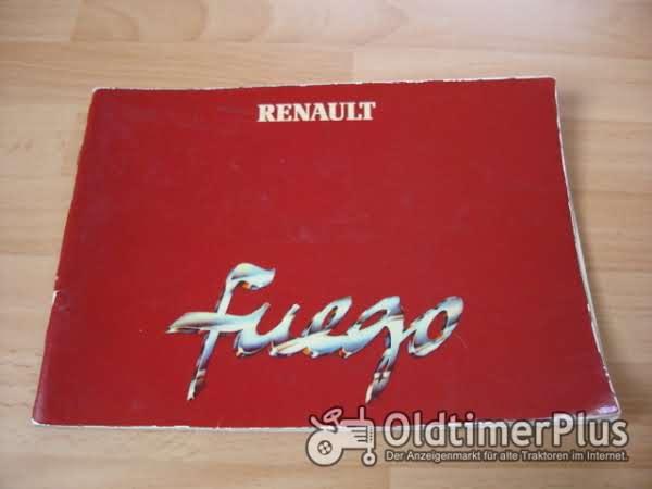 orig. Betriebsanleitung Renault Fuego Coupé 1981 Foto 1