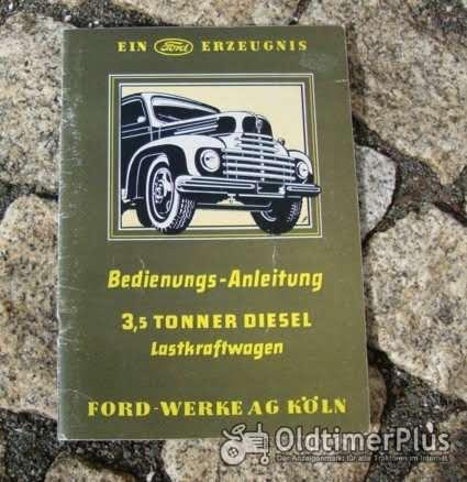 Betriebsanleitung Ford FK 3500 Diesel Lastwagen 1951 Foto 1