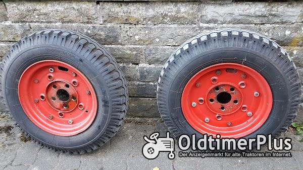 Heidenau 23x5 2x Reifen 23x5 auf Felge für 11er Deutz nicht orginal! Foto 1