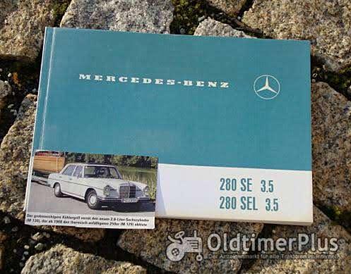 Betriebsanleitung Mercedes 280 SE SEL 3.5 Limousine 1971 Foto 1