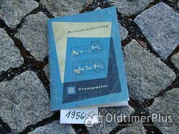 Betriebsanleitung VW Transporter Bus 1956 T1 30 PS Foto 1