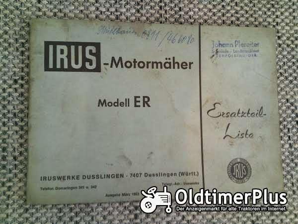 Irus ER Motormäher Ersatzteilliste Foto 1