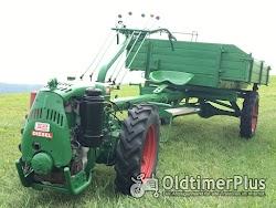 AGRIA Hatz Agria 2800 Hatz 12 PS mit Völker Triebachs-3Seit-Kipper-Anhänger Foto 4
