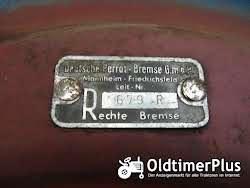 Hanomag R435 Grundplatte, Bremsankerplatte Bremse rechts Foto 3