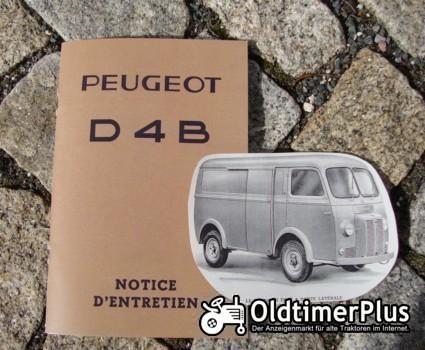 Betriebsanleitung Peugeot D4B Transporter / Bus 1962 notice d´entretien Foto 1