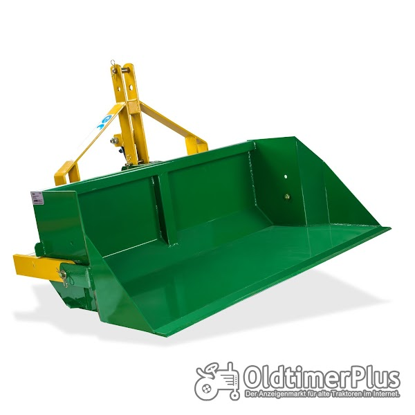 Traktor Heckschaufel hydraulisch 120 cm breit 400 kg Nutzlast NEU Foto 1