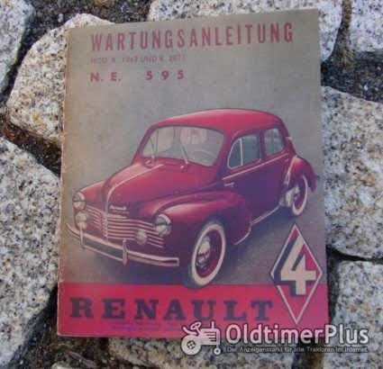 Betriebsanleitung Renault 4CV 1950 Cremeschnittchen Foto 1