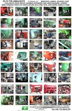 DEUTZ EICHER F2M414 F1M414 Motor Ölfilter Adapter Umbausatz Ölfilterumbausatz Foto 2