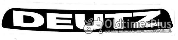 Deutz Aufkleber Label Sticker Motorhaube 07 Baureihe ohne Rahmen neu Foto 1