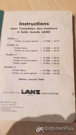 Lanz Bulldog Betriebsanleitung Liste für 25, 35, 45 und 55 PS Bulldog Foto 2