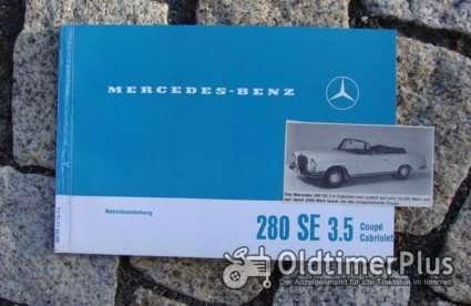 Betriebsanleitung Mercedes 280 SE 3.5 Coupé Cabriolet 1969 Foto 1