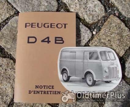 Betriebsanleitung Peugeot D4B Transporter / Bus 1962 Chenard & Walcker Foto 1