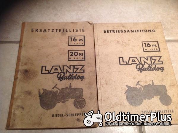 Lanz Bulldog Betriebsanleitung Foto 1