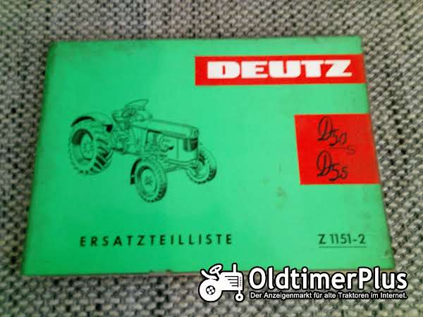 Deutz D50S D55 Ersatzteilliste Z 1151-2 Foto 1