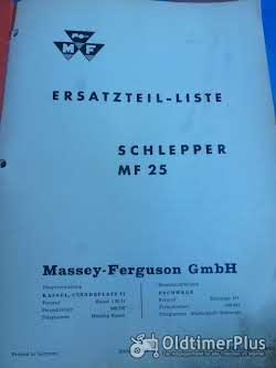 Ersatzteil-Liste MF 25 aus 8/61 Foto 2