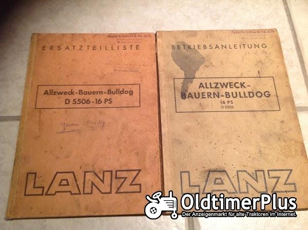 Lanz Bulldog Betriebsanleitung und Ersatzteilliste Foto 1