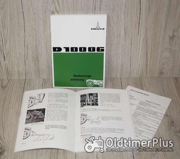 Deutz Bedienungsanleitung Traktor D10006 (bis 1972) Foto 1