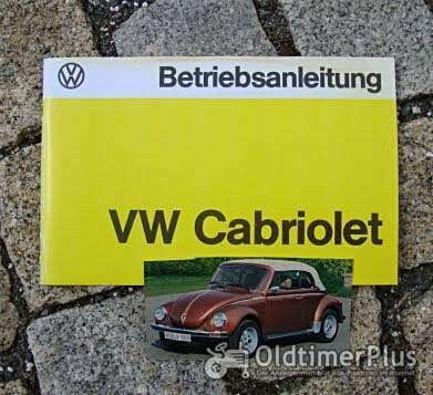 Betriebsanleitung VW 1303 Käfer Cabriolet 1978 Foto 1