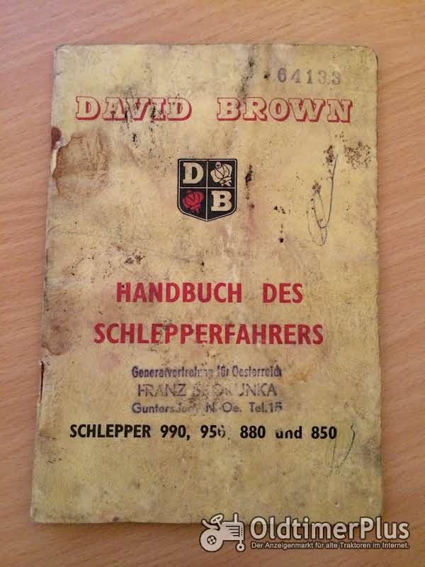 David Brown 990, 950, 880 und 850 Handbuch Foto 1